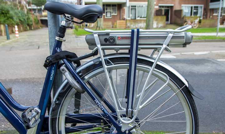 e-bike goed op slot zetten