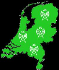 KPN dekkingskaart 4G 5G