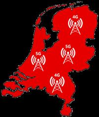 Vodafone dekkingskaart 4G 5G
