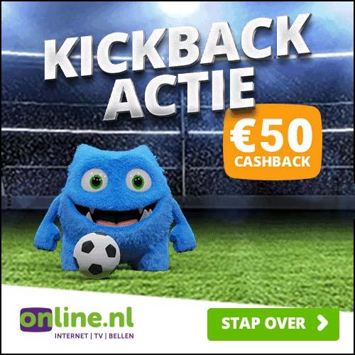 Online.nl Kickback Actie 2021 glasvezel